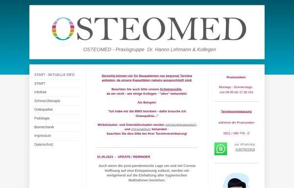 Vorschau von www.osteomed.de, OSTEOMED - Dr. Hanno Lehmann