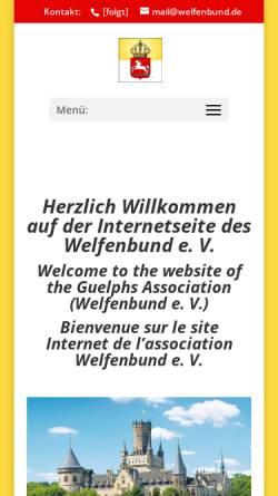 Vorschau der mobilen Webseite www.welfenbund.de, Welfenbund