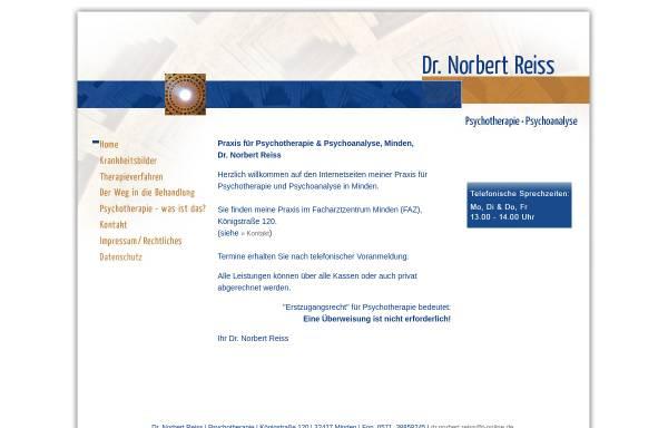 Vorschau von www.dr-reiss-psychotherapie.de, Dr. Norbert Reiss