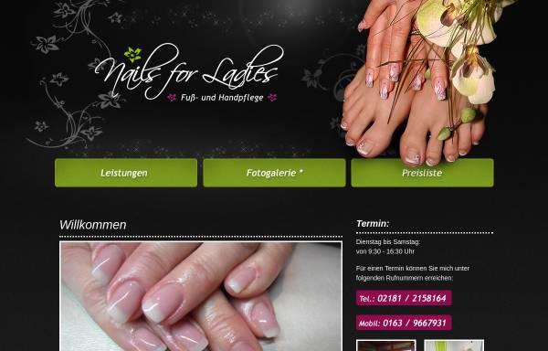 Vorschau von www.nails-for-ladies.de, Nails for Ladies