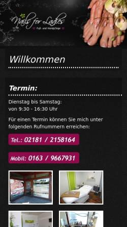 Vorschau der mobilen Webseite www.nails-for-ladies.de, Nails for Ladies