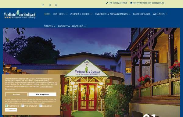 Vorschau von www.vitalhotel-am-stadtpark.de, Vitalhotel am Stadtpark in Bad Harzburg