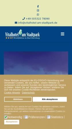 Vorschau der mobilen Webseite www.vitalhotel-am-stadtpark.de, Vitalhotel am Stadtpark in Bad Harzburg