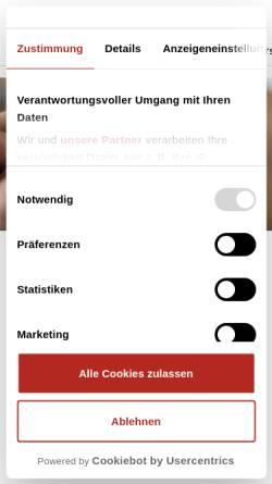Vorschau der mobilen Webseite www.schwaebische.de, Schwäbische Zeitung