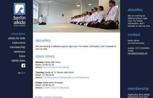 Vorschau von www.berlinaikido.de, Aikido an der TU Berlin