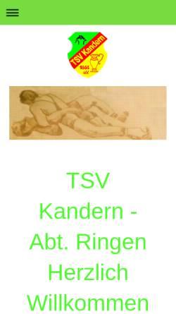 Vorschau der mobilen Webseite www.tsvkandern.de, TSV Kandern e.V.