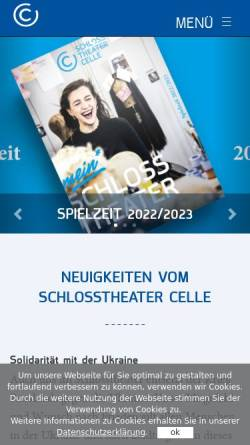 Vorschau der mobilen Webseite www.schlosstheater-celle.de, Schlosstheater Celle