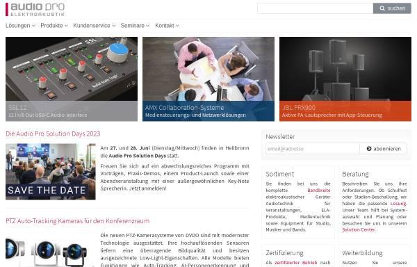 Vorschau von www.audiopro.de, Audio Pro Heilbronn Elektroakustik GmbH