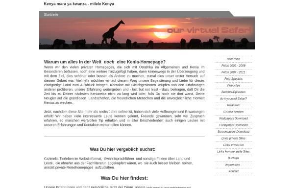 Vorschau von kenia4ever.de, Kenia 4 Ever [Werner Schmalz]