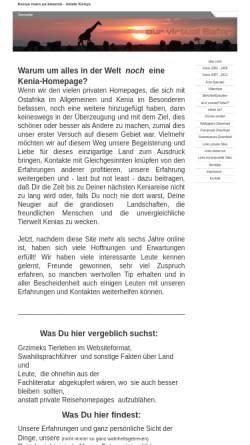 Vorschau der mobilen Webseite kenia4ever.de, Kenia 4 Ever [Werner Schmalz]