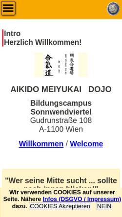 Vorschau der mobilen Webseite www.aikido-meiyukai.com, Wien - Aikido Meiyukai Dojo