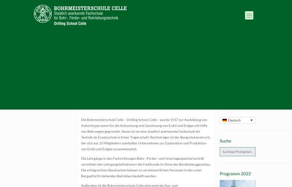 Vorschau von www.bohrmeisterschule.de, Bohrmeisterschule Celle