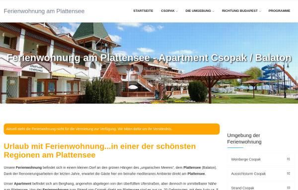 Vorschau von www.ferienwohnung-am-plattensee.de, Ferienwohnung Plattensee