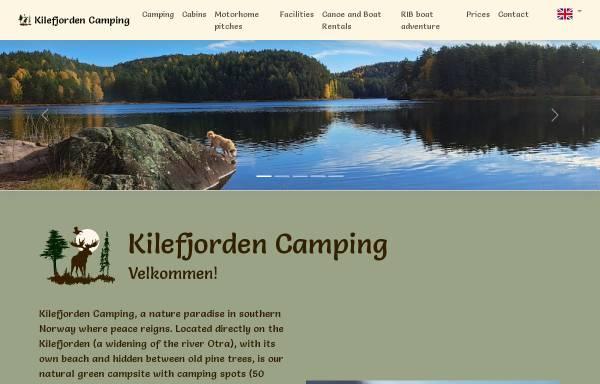 Vorschau von www.kilefjorden.com, Evje und Kilefjorden Camping.