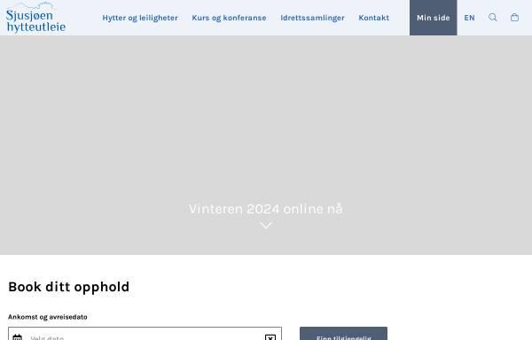 Vorschau von www.sjusjoen.no, Sjusjøen hytteutleie