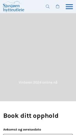 Vorschau der mobilen Webseite www.sjusjoen.no, Sjusjøen hytteutleie