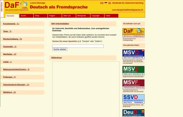 Vorschau von www.deutschalsfremdsprache.ch, Deutsch als Fremdsprache