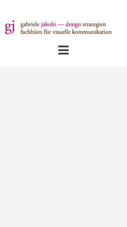 Vorschau der mobilen Webseite www.jakobi-design.de, Design Strategien Gabriele Jakobi