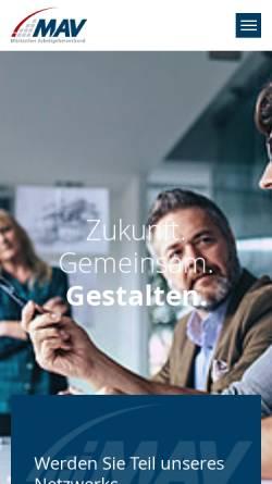 Vorschau der mobilen Webseite www.mav-net.de, Märkischer Arbeitgeberverband e.V. (MAV)