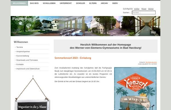 Vorschau von www.wvsharzburg.de, Werner-von-Siemens-Gymnasium