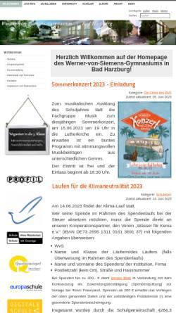 Vorschau der mobilen Webseite www.wvsharzburg.de, Werner-von-Siemens-Gymnasium
