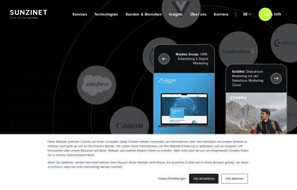 Vorschau von www.sunzinet.com, Sunzinet AG