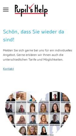 Vorschau der mobilen Webseite www.nachhilfeinstitut.biz, Pupil's Help