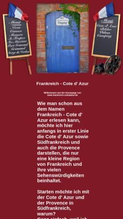 Vorschau der mobilen Webseite www.frankreich-cotedazur.de, Frankreich - Cote d Azur [Jörg Kammler]