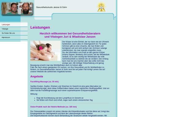 Vorschau von sdorowje.de, Gesundheitsstudio Janzen & Sohn GbR