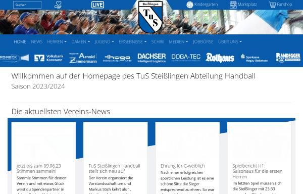Vorschau von www.handball-steisslingen.de, TuS Steißlingen Abteilung Handball