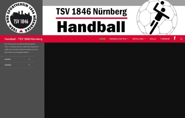 Vorschau von www.tsv1846-handball.de, TSV 1846 Nürnberg Handball
