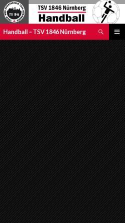 Vorschau der mobilen Webseite www.tsv1846-handball.de, TSV 1846 Nürnberg Handball
