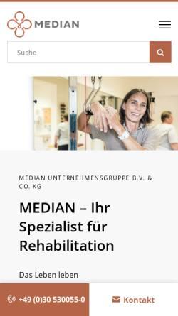 Vorschau der mobilen Webseite www.ahg.de, AHG Klinik Mecklenburg, Parber