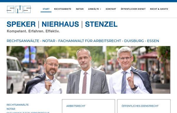 Speker Nierhaus Stenzel Rechtsanwälte Und Notare Rechtsanwälte