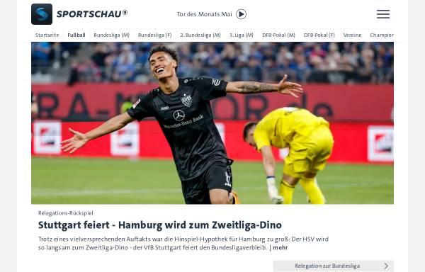 Vorschau von www.sportschau.de, ARD-Sportschau: Fußball