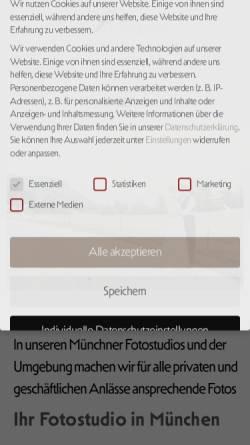 Vorschau der mobilen Webseite www.photogenika.de, Rieger, Tina