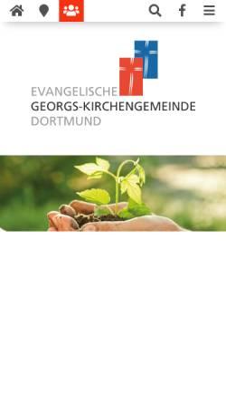Vorschau der mobilen Webseite www.georgsgemeinde.de, Evangelische Georgs-Kirchengemeinde