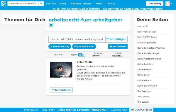 Vorschau von www.competence-site.de, Competence Center für Arbeitsrecht