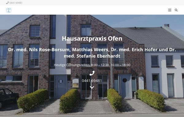 Vorschau von www.hausarztpraxis-ofen.de, Hofer, Dr. med. Erich und Rose-Borsum, Dr. med. Nils