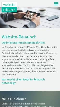 Vorschau der mobilen Webseite www.website-relaunch.eu, Website Relaunch - Website-Optimierung mit TYPO3