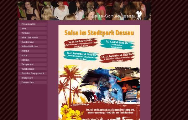 Vorschau von www.schlaflos-in-dessau.de, Salsaschule Dessau