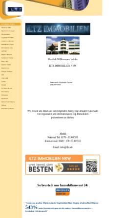 Vorschau der mobilen Webseite www.iltz.de, Iltz Immobilien- und Grundstücksentwicklung