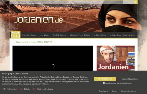 Vorschau von www.jordanien.de, Jordanien.de