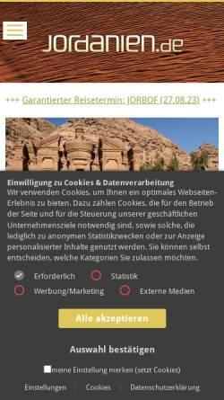 Vorschau der mobilen Webseite www.jordanien.de, Jordanien.de