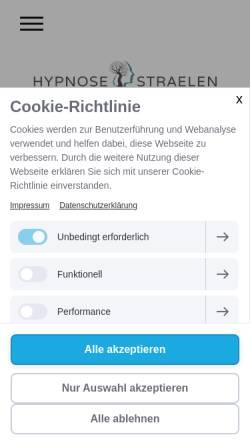 Vorschau der mobilen Webseite www.hypnose-straelen.de, Ingo Wietrzychowski