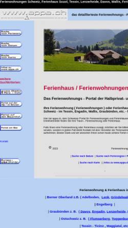 Vorschau der mobilen Webseite www.appa.ch, Appartements und Ferienhäuser