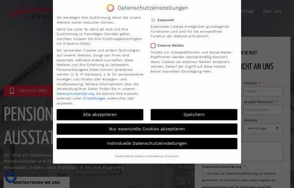 Vorschau von monteurzimmer-frankfurt-walldorf.de, Gästehaus Schröder