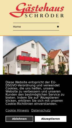 Vorschau der mobilen Webseite monteurzimmer-frankfurt-walldorf.de, Gästehaus Schröder