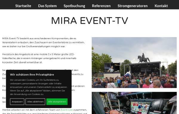 Vorschau von www.mira-event-tv.de, Mira TV GmbH
