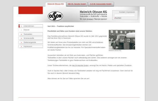 Vorschau von www.olsson-hannover.de, Heinrich Olsson KG
